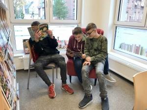 Besuch Bücherei 3 November 2019